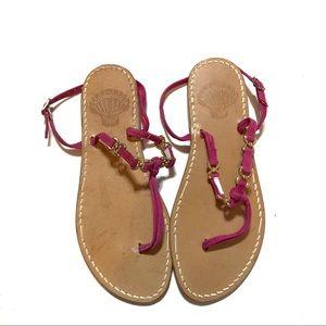 La Conchiglia Leather Ankle Strap Sandals Women's